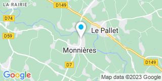Plan Carte Gourreau à Monnières