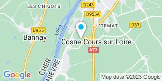 Plan Carte L'entreprise Bouin Philippe à  Cosne-Cours-sur-Loire