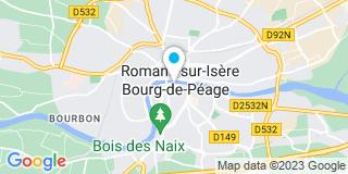 Plan Carte Entreprise Vallon Faure à Bourg-de-Péage