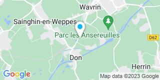 Plan Carte Menuiserie Charpent Polet frères à Wavrin