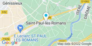 Plan Carte Payen Menuiserie à Saint-Paul-les-Romans