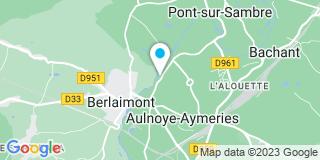 Plan Carte Tomma Sini menuiserie à Aulnoye Aymeries