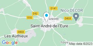 Plan Carte Treuil Menuiserie Bâtiment à Saint-André-de-L'Eure
