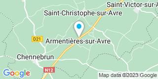 Plan Carte Couasnon Charpentes à Armentières-sur-Avre
