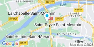 Plan Carte Calippe Entreprise à Saint-Pryvé-Saint-Mesmin