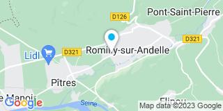 Plan Carte Etablissements Pierre Vignon à Romilly-sur-Andelle