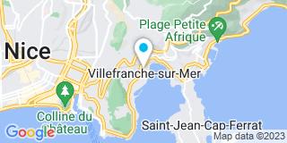 Plan Carte Servibat à Villefranche sur Mer