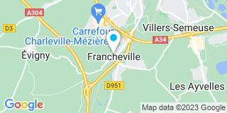 Plan Carte Fermetures Ponsardin à La Francheville