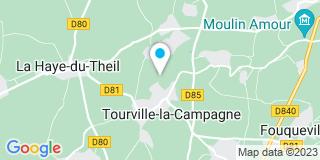 Plan Carte Aubert Menuiserie à Tourville-la-Campagne