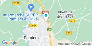 Plan Carte Ariège Pyrénées Menuiserie à Pamiers