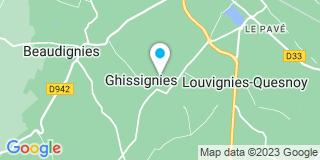Plan Carte Sambre Escaut menuiserie à Ghissignies