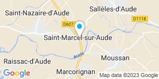 Plan Carte Construction Rénovation Habitat (CRH) à Saint Marcel sur Aude