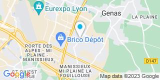 Plan Carte Société Lyonnaise Menuiserie à Genas