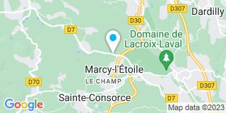 Plan Carte La Tourelloise de Menuiserie à Marcy-l'Etoile