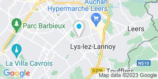 Plan Carte L'entreprise Menuiplast à Lys Lez Lannoy