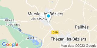 Plan Carte Menuiserie Loubet à Murviel Les Bezier