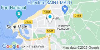 Plan Carte Tercy Levillain à Saint-Malo