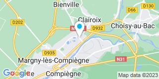 Plan Carte Pascal et Cathy Carlier à Clairoix