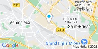 Plan Carte Société des Menuisiers de Saint-Priest -SMS à Saint-Priest