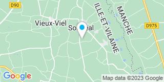 Plan Carte Guillard Bertrand à Sougéal