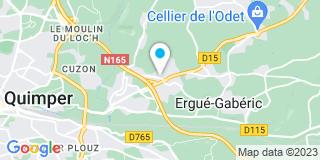 Plan Carte Société Bâtiment Cornouaille-Lallouet à Ergue-Gabericà Ergue-Gaberic