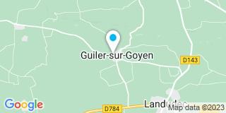 Plan Carte Pogeant à Guiler-sur-Goyen