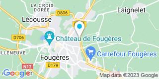 Plan Carte Ouest Ouvertures à Fougères