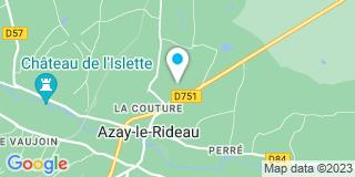 Plan Carte Menuiserie Mickaël Moreau à Azay-le-Rideau