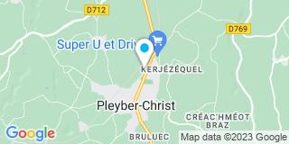 Plan Carte Le Goff Rémy à Pleyber-Christ