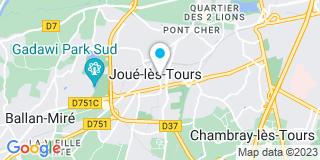 Plan Carte M.E.S.T.A.L à Joué-lès-Tours