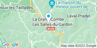 Plan Carte Alc Menuiseries à Les Salles-du-Gardon