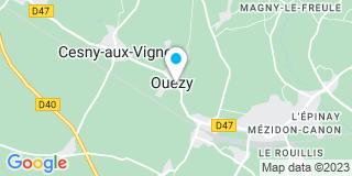 Plan Carte CTP (Cyril Thillaye Projection) à Ouézy