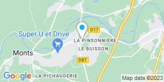 Plan Carte Métal Technic Montois à Monts