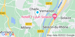 Plan Carte Vitrerie Miroiterie Bernard à Charly