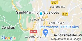 Plan Carte Menuiserie Deveze à Saint-Martin-de-Valgalgues