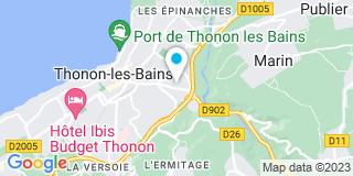 Plan Carte Perracino Guy à Thonon-les-Bains