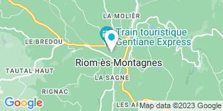 Plan Carte Antignac Claude à Riom ès Montagnes