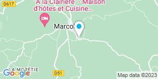 Plan Carte Guirbert Jean-Luc à Marcolès