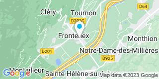 Plan Carte Alp'Fermetures à Frontenex