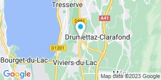 Plan Carte Vitrerie Miroiterie des Alpes à Viviersdu Lac