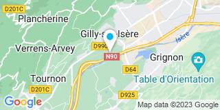 Plan Carte Sabaudia Menuiserie à Gilly-sur-Isère