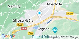 Plan Carte Société Alpine de Vitrerie et de Miroiterie à Albertville