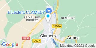 Plan Carte Bricomarché de Clamecy