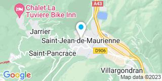 Plan Carte Genoulaz Savia Menuiserie Cuisine à Saint-Jean-de-Maurienne
