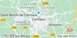 Plan Carte Gédimat à Carmaux