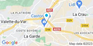 Plan Carte BE Fermetures à Toulon