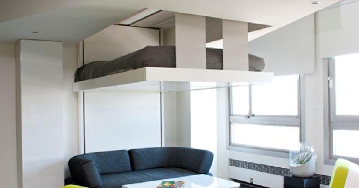 10 types de lits escamotables pratiques pour gagner de la place. Black Bedroom Furniture Sets. Home Design Ideas