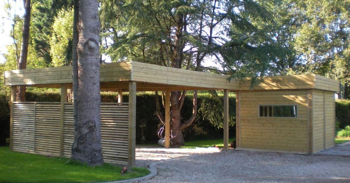 abri de jardin avec carport d finition et caract ristiques. Black Bedroom Furniture Sets. Home Design Ideas