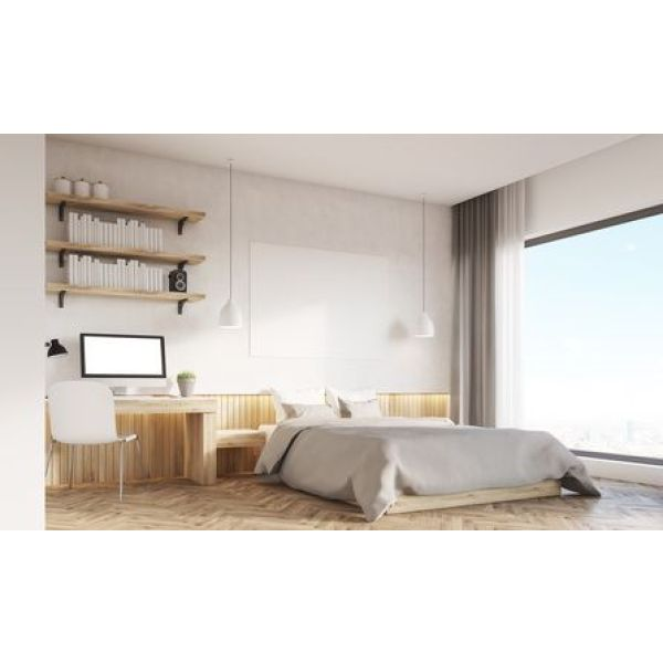 am nager une chambre avec un coin bureau. Black Bedroom Furniture Sets. Home Design Ideas