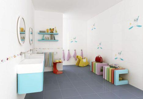 Am nager une salle de bains pour enfants for Carrelage salle de bain enfant